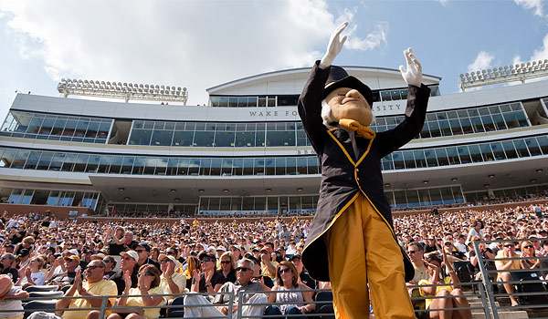 Demon Deacon at BB&T Stadium