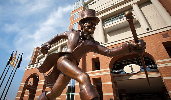 Demon Deacon Statue in Front of BB&T Stadium