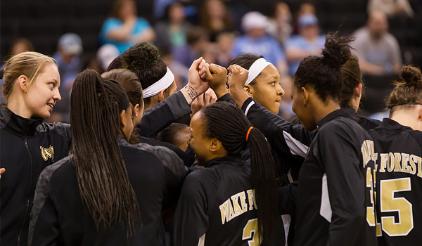 Wake Forest women's basketball takes on the University of North Carolina