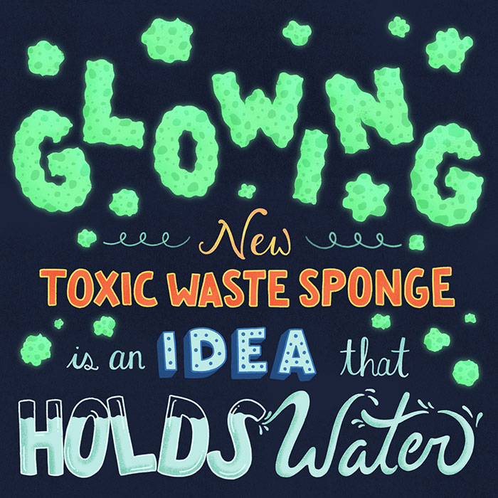New toxic waste sponge idea holds water