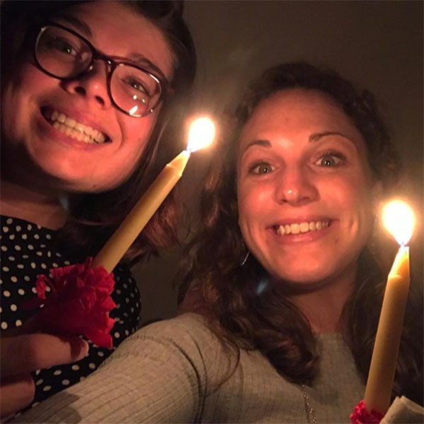 Lovefeast attendees' selfie