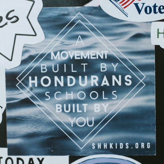 Students Helping Honduras sticker