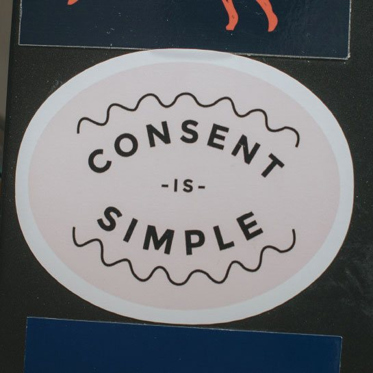 Consent sticker