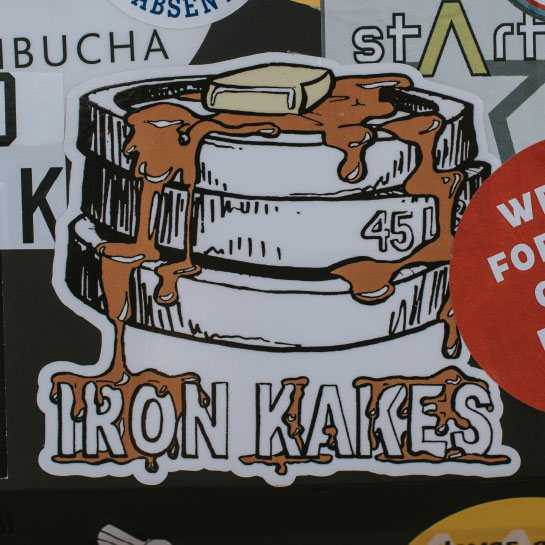 Iron Kakes sticker