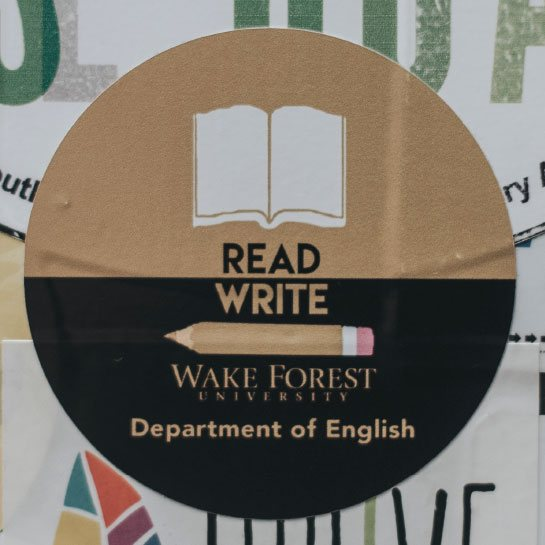 Read Write Wake Forest sticker