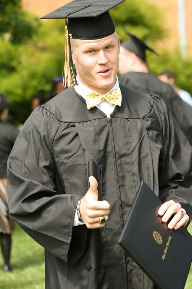 Zach Gordon graduating from Wake Forest