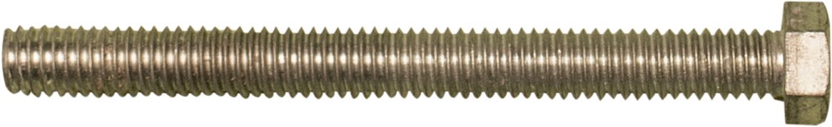 Bolt used to form the base of the number 2