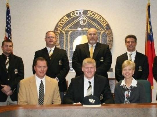 Photo of Zach Gordon signing to Wake Forest