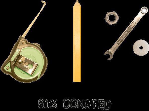 61% Donated