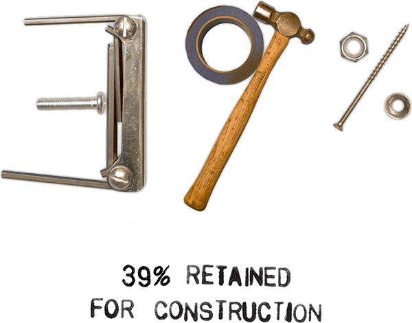 39% Retained for Construction