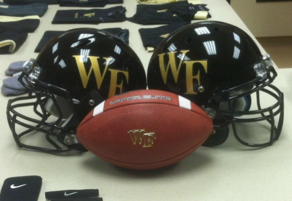 Wake Forest football, helmets and jerseys