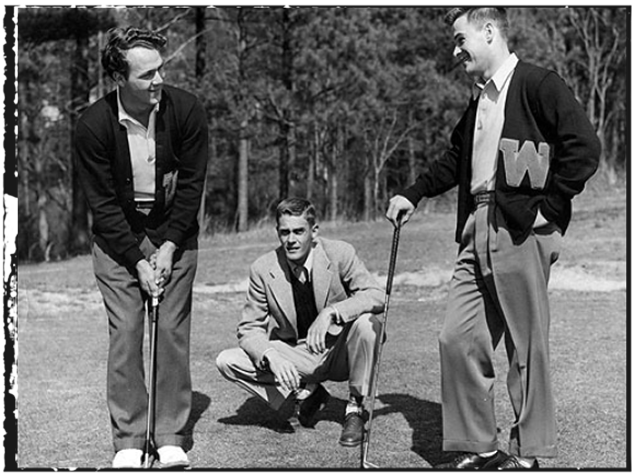 Arnold Palmer, Coach Johnny Johnston and Bud Worsham