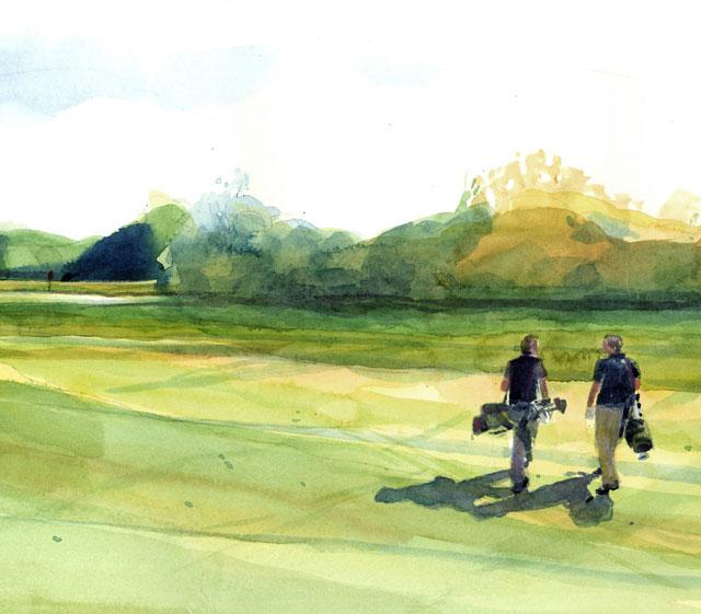 golf course ending
