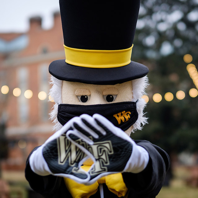 The Deacon shows off his WF gloves