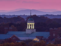 ZSR library cupola at sunset