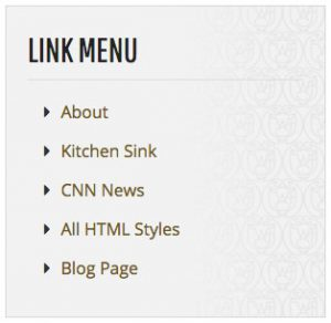 Link Menu screenshot