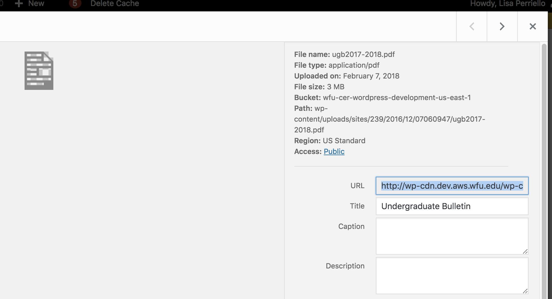 Select PDF url