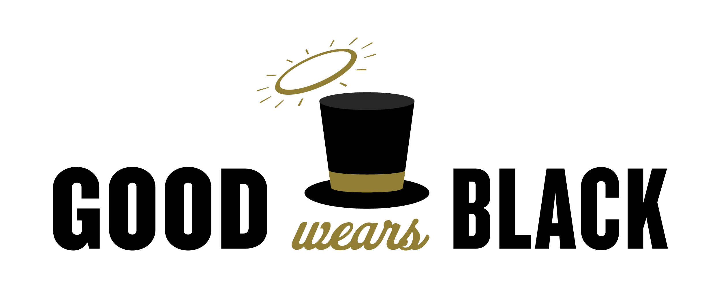 Good Wears Black with top hat and halo