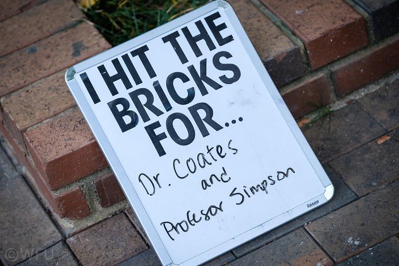 I Hit the Bricks for sign
