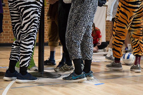 Wake Forest students dance to raise money for cancer research at the annual Wake n Shake dance marathon in Reynolds Gym on Saturday, March 19, 2016.