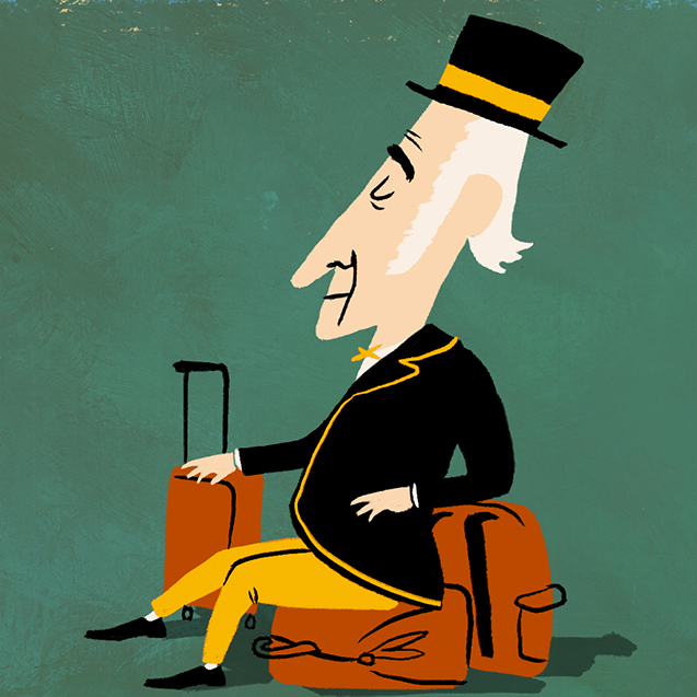 Deacon and his luggage illustration
