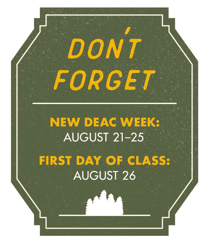 New Undergraduate Students (For Class of 2023) | New Deac Week