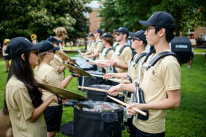 Marching Band Photo at Move-in Day