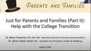 2021 Just for Parents and Families Part II
