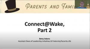Connect @ Wake Part II - Fraternities and Sororities
