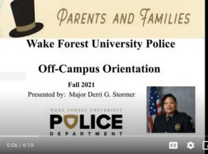 Off-Campus Orientation and Safety