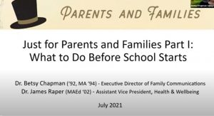 Just for Parents and Families Part I: What to Do Before School Starts