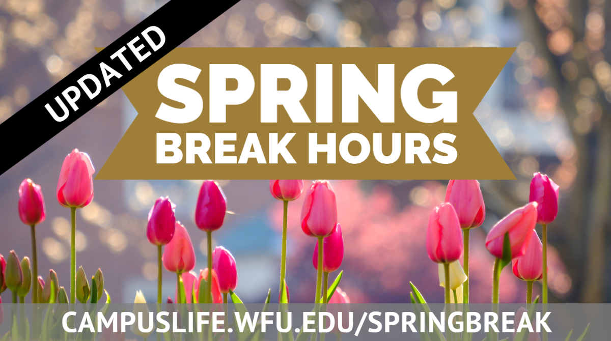 Updated Spring Break Hours