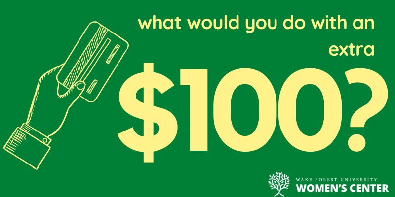What would you do with 100 dollars banner