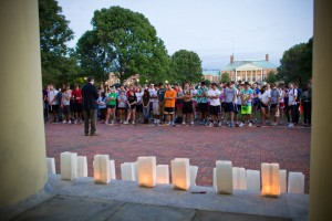 The ending of Hit the Bricks is a moving moment to honor those who have fought or are fighting cancer.