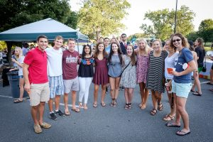 Students pose at Taste of Winston-Salem food event