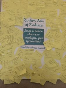 Random Acts of Kindness signs from students