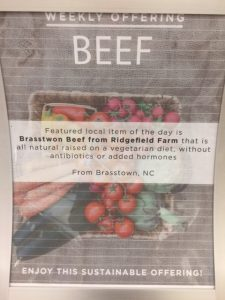 Sign in the Pit for grassfed beef