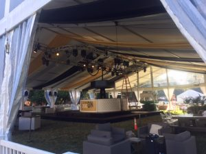 stage within the big tent for Party So Dear