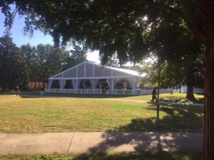 Tent on the Mag Quad for Homecoming