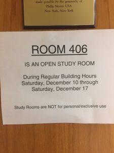 study room notification