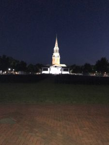 The Quad at dark-thirty in the morning