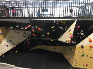 climbing wall as seen from above