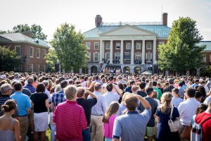 families at the Making of a Demon Deacon