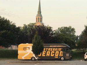 The Streakin Deacon bus and Wait Chapel