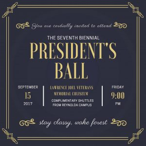 2017 President's Ball invitation