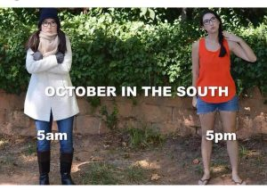October in the South