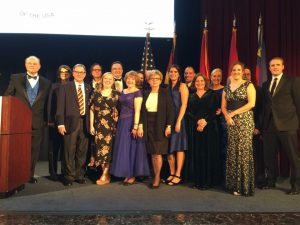 The German-American Heritage Foundation Staff, Board Members, and Interns pose for a photo at the annual gala to honor the 2017 Distinguished German-American of the Year, South Carolina's Secretary of Commerce Robert M. Hitt, III