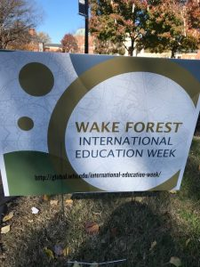 International Education Week sign