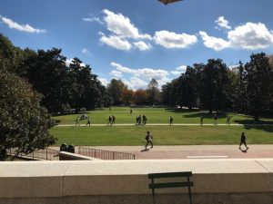Gorgeous fall day on the Mag (Manchester) Quad