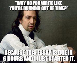 A Hamilton finals meme